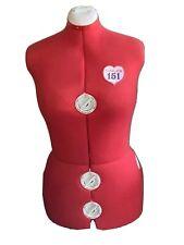 Singer Model 151 Adjustable Red Dress Form Mannequin Sewing No Stand