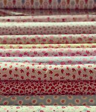 100% Cotton Fabric,Rose & Hubble Vintage Roses Floral Material 110 cm 1 Metre