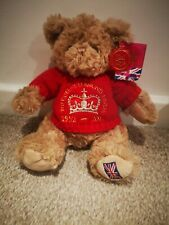 KEEL TOYS THE QUEENS DIAMOND JUBILEE TEDDY BEAR with tags