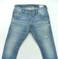 DIESEL KROOLEY 0805Q  Regular Slim Carrot DISTRESSED men's jeans size 30 / 31