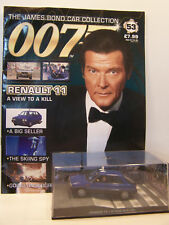 James Bond 007 Car Collection No 53 Renault 11 with magazine