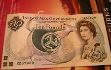 More details for isle of man paper £10 note ten pounds circulated crisp flat clean not polymer