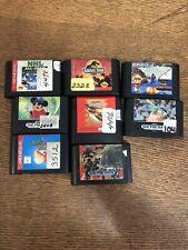 Sega Genesis 8 Game Lot Jurassic Park, Fantasia, X-men