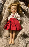 """VINTAGE 12"""" SHIRLEY TEMPLE DOLL 1950'S IDEAL ST-12"""
