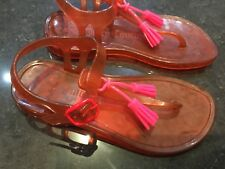 Juicy Couture New & Genuine  Girls Orange Rubber Jelly Shoes Size UK 12 EU 31