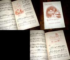 supplément musical de l'Illustration n° de Noël 1896 illustr. Firmin Bouisset