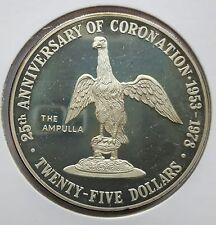 CAYMAN-ISLANDS: 25 DOLLAR 1978, 25. THRONJUB. V. ELISABETH II., (Alb03E03), PP !