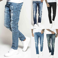 883 Police Mens Slim Stretch Distress Vintage Engineered Designer Denim Jeans