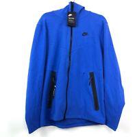 Nike Tech Pack Full Zip Hoodie Royal Blue Black AA3784-480 Men's M-XL