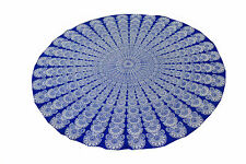 Indian100% Cotton Decor Round Table Cover Wedding Banquet Beach Colorful Cloth
