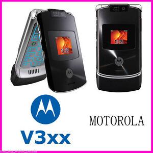 Original Motorola Razr v3xx Unlocked Flip Cellphone 1.3MP Camera Bluetooth Phone