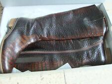 Damen Stiefel von Gabor, Kroko-Optik aus Leder, Hochschaft elegant neu TOP-PREIS
