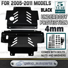 Bash Plate Fit For Nissan Navara D40 2005-2011 Underbody Protect Guard 4mm Black