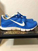 Nike Free 5.0 Mens Sz 10 Med Blue White Running Shoes - Trainer 511018-414