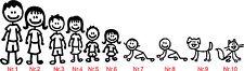 Full set Car Family Members Characters B,Car,Bike,Stickers,Selfadhesive,Graphics