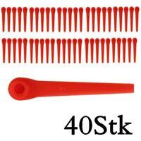 40 Stk Kunststoffmesser Ersatzmesser - Gardena 9823, 9825 Rasentrimmer AKKU ART