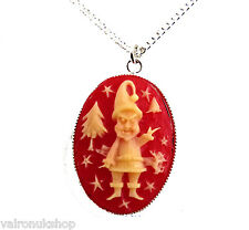 CHRISTMAS PENDANT NECKLACE IDEAL CHILDREN CHOICE GOLD OR SILVER PLATE