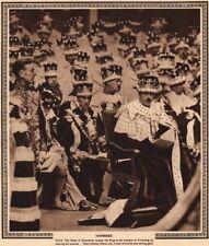 CORONATION 1937. Homage. Duke Of Gloucester salutes King George VI 1937 print
