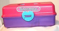 1991 Pink & Purple Tinkerbell Redbox Cosmetic Makeup Organizer Case #22102