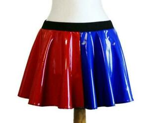 Ladies Harley Quinn Suicide Squad Costume Halloween Fancy Dress Skirt Outfit
