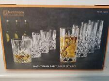 NEW Nachtmann Bar 8-Piece Tumbler Glassware Set Whisky/Highball Bavarian Crystal