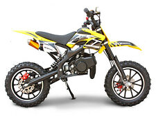 Syxmoto Holeshot Mini Dirt Bike Gas Power 2-Stroke 49cc Motorcycle ,Yellow