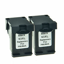 Compatible with 2PK Black Ink fits F6U64AN 63 XL 63XL For HP ENVY 4520 Printer