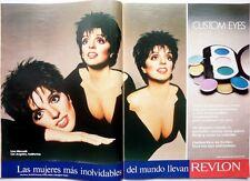 LIZA MINELLI => 2 pages 1987 Spanish CLIPPING !!! COUPURE DE PRESSE