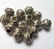 20 pcs Tibetan silver big doll flowers charms spacer bead 10x7 mm