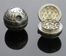 Novelty Magnetic Death Star Herb Grinder 3 Part 50mm Sharp Metal Ball Crusher