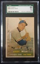 1957 TOPPS CASEY WISE CHICAGO CUBS #396--SGC 86=7.5=NEAR MINT PLUS--CENTERED!!!