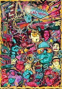 FEAR & LOATHING IN LAS VEGAS Classic 90's Vintage Movie Poster Wall Art Print