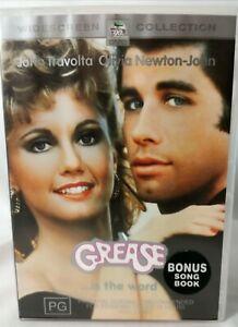 Grease DVD With Bonus Song Book - John  Travolta - Olivia Newton-John