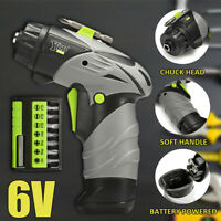 6V Wireless 1/4 '' Akkuschrauber Set Mini LED Elektrowerkzeug Kit + 8pcs