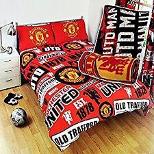 Manchester United Patch Design Double Duvet Set with Impact Fleece Blanket Combo