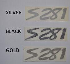 S281 silver black or gold SALEEN OEM DECALS nos