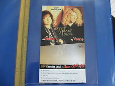 Jimmy Page & Robert Plant 1995 Promotional Table Tent; Mgd Ad for Tour; Ex/Nm