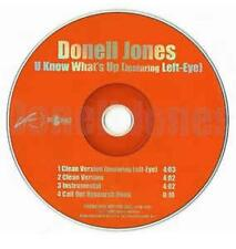 Donell Jones: U Know What's Up PROMO MUSIC AUDIO CD Left-Eye Clean Instrumental