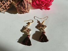 accessories, boucre d'oreille, earring, handmade,france, Leopard brown