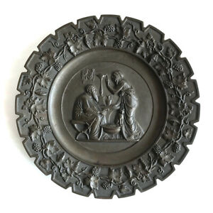 Antique Victorian Neoclassical Grand Tour Style Cast Iron Wall Plaque, C.1900