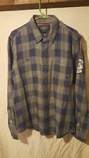 Harley-Davidson Men's flannel Plaid long Sleeve Woven Shirt Large button up