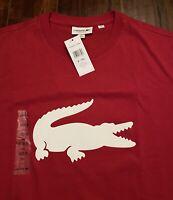 NWT ~ LACOSTE Mens Big Crocodile Logo T-Shirt - Size 8 (3XL)