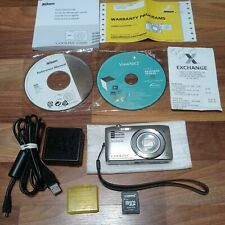 Nikon COOLPIX S3500 20.1MP Digital Camera Disks Manual Memory Card Tested Clean
