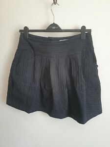 Fat Face Skirt Pockets Size 12 100% Cotton Pin Stripe