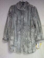 NWT DENNIS BASSO BOUTIQUE Faux Fur Coat Size Medium