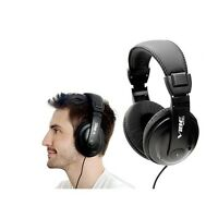 NEW Black Vibe Sound DJ Style Stereo over Ear Headphones with Noise Reduction