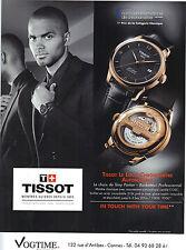 PUBLICITE ADVERTISING  2012  TISSOT la montre LOCLE CHRONOMETRE par Tony Parker