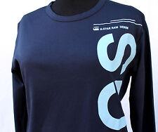 G-STAR RAW Shirt Unisex langarm Größe L dunkelblau NEU