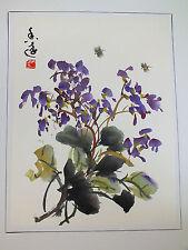 Dipinti a mano Cinese Pennello Pittura Foto Muro Viola Orchidea Giapponese parte V