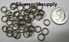 Bronze Plated 19 Ga  7mm Round  jump rings findings attach charms clasps FPJ052